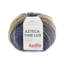 Katia Azteca Fine Lux 413 Bruin-Oceaanblauw