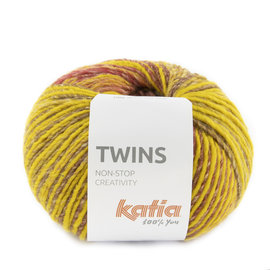 Katia Twins 159 Mosterdgeel-Leembruin