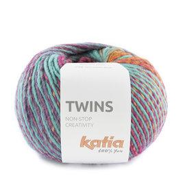 Katia Twins 161 Oranje-Lila-Turquoise