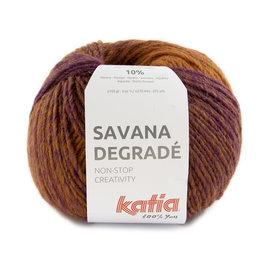 Katia Savana Dégradé 102 Lila-Oranje-Geel