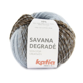 Katia Savana Dégradé 105 Blauw-Hemelsblauw-Bruin