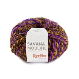 Katia Savana Mouliné 202 Lila-Oranje-Geel