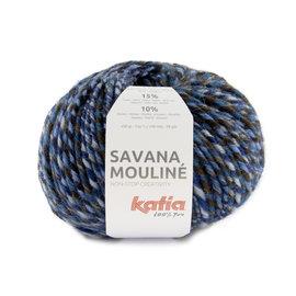 Katia Savana Mouliné 205 Blauw-Hemelsblauw-Bruin