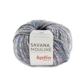 Katia Savana Mouliné 207 Beige-Lila-Pastelblauw