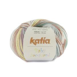 Katia Baby Jacquard 93 Turquoise-Zalmroze-Geel