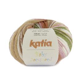 Katia Baby Jacquard 94 Roestbruin-Roos-Groen