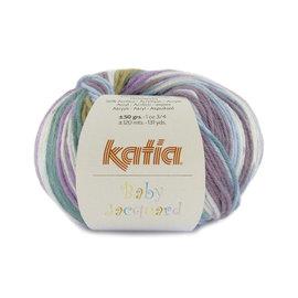 Katia Baby Jacquard 95 Paars-Groen
