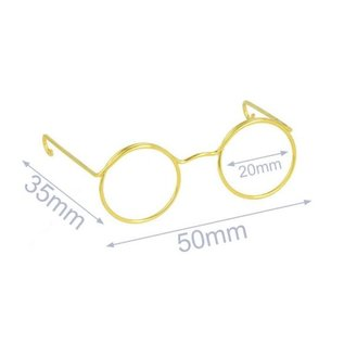 Bril voor knuffel metaal 5 cm