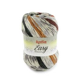 Katia Easy Jacquard 106 Grijs-Rood-Lichtoranje