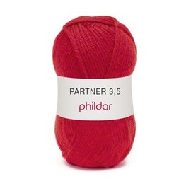 Phildar Partner 3,5 Wol 0084 Rouge