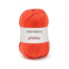 Phildar Partner 6 wol 0206 Vermillon