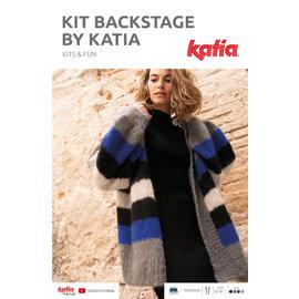 Katia Breipakket Backstage Colorblockvest in  Mohair