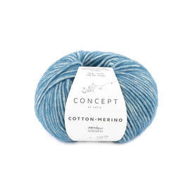 Katia Cotton Merino 133 Blauw