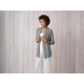 Katia Gratis Breipatroon damesvest in Katia Cotton - Cashmere