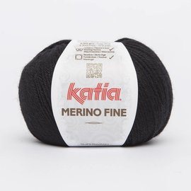 Katia Merino Fine Wol 2 - Zwart