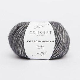 Katia Cotton Merino 107 Donkergrijs