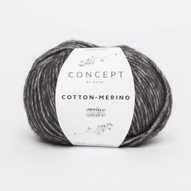 Katia Cotton Merino 108 Zwart