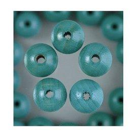 Houten Kralen - Turquoise