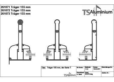 Überdachung - Träger 155 Serie T