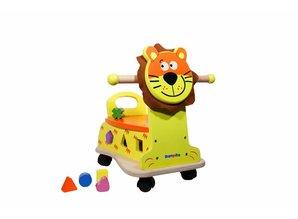 WoodBeFun Loopwagen leeuw