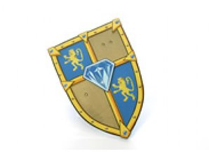 Visiodan - verkleed kleren Schild blue diamond