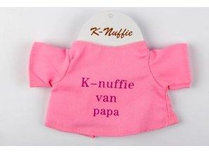 Babycase K-nuffie van papa roze