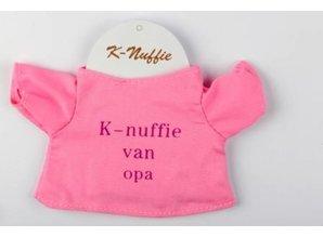 Babycase K-nuffie van Opa roze