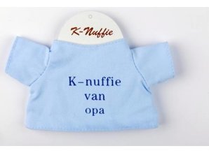Babycase K-nuffie van opa blauw
