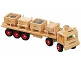 Fagus - Houten speelgoed Fagus oplegger met pallets