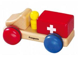 Fagus - Houten speelgoed Fagus mini ambulance