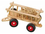 Fagus - Houten speelgoed Fagus Hooiwagen