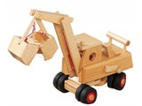 Fagus - Houten speelgoed Fagus Graafmachine (bagger)