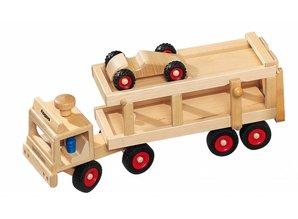 Fagus - Houten speelgoed Fagus autotransporter