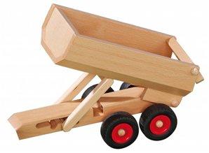 Fagus - Houten speelgoed Fagus aanhanger kiepauto groot