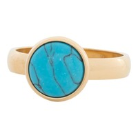 IXXXI JEWELRY RINGEN iXXXi Jewelry Washer 0.4 cm Steel Turquoise Stone Gold 12mm