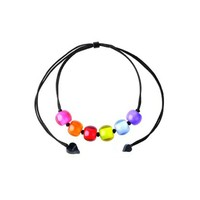 ZSISKA DESIGN Zsiska Necklace Colorful Beads adjustable Spectrum