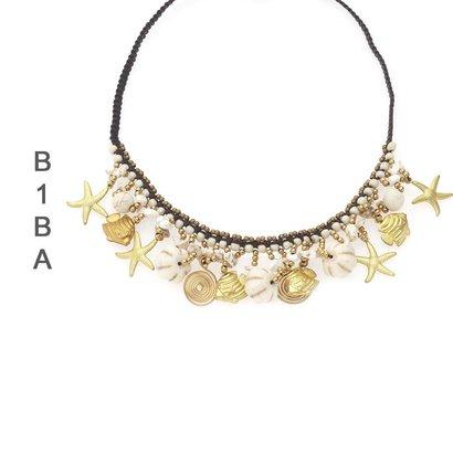 BIBA EXPERIENCE Biba Korte Ketting met Bedels verkrijgbaar in Turquoise en Wit
