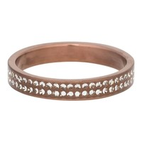 IXXXI JEWELRY RINGEN iXXXi Jewelry Vulring 0.4 cm Double Zirkonia Mat Brown