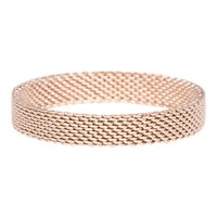 IXXXI JEWELRY RINGEN iXXXi Jewelry Fountain 0.4 cm MESH ROSE GOLD