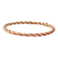 CHARMIN'S Charmin ring Turning Rosegoud Steel