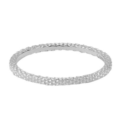 CHARMIN'S Charmins Snake steel stack ring R325 Silver Steel from Charmin's fashion jewelry brand.