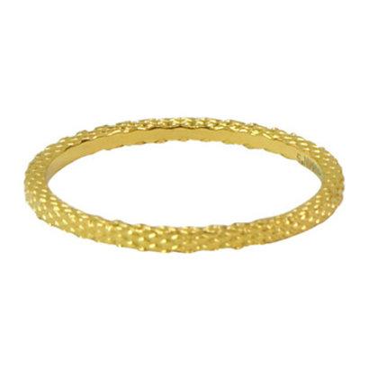 CHARMIN'S Charmins Snake stalen stapelring R326 Gold Steel van het fashion sieradenmerk Charmin's.