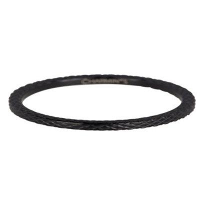 CHARMIN'S Charmins Snake stalen stapelring R359 Black Steel van het fashion sieradenmerk Charmin's.