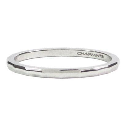 CHARMIN'S Charmins Angle stalen stapelring R304 Silver Steel van het fashion sieradenmerk Charmin's.