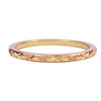 CHARMIN'S Charmins Ring Kreuz alle über Rose Gold Steel