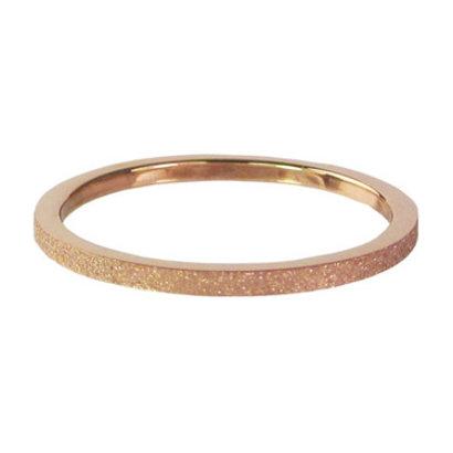 CHARMIN'S Charmins Sanded stalen stapelring R342 rosegold Steel van het fashion sieradenmerk Charmin's.