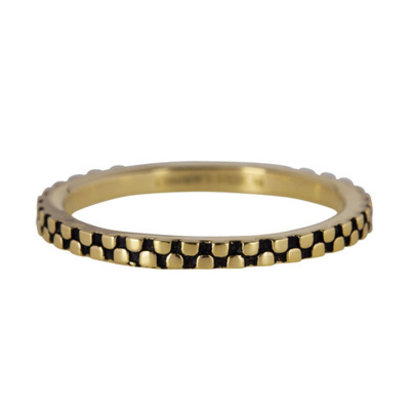 CHARMIN'S Charmins Pointy Steel steel ring R452 Gold Steel from Charmin's fashion jewelry brand.
