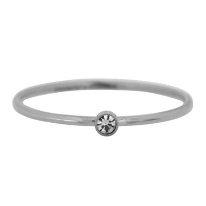 CHARMIN'S Charmins Shine Bright stalen stapelring R431 Silver Steel van het fashion sieradenmerk Charmin's.