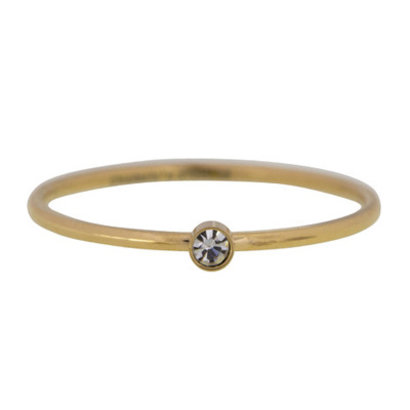 CHARMIN'S Charmins Shine Bright steel ring ring R432 Gold Steel from Charmin's fashion jewelry brand.