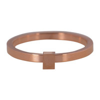 CHARMIN'S Charmins ring Quatre Steel Rosegoud Staal